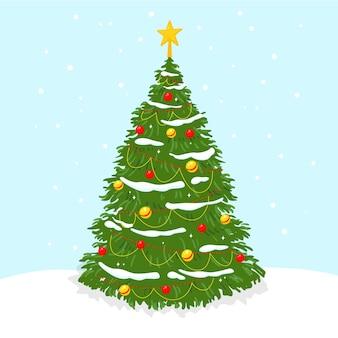 Bidimensional christmas tree
