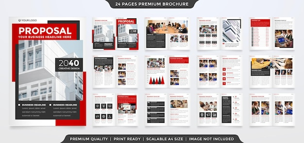 Bifold brochure template with minimalist and premium style