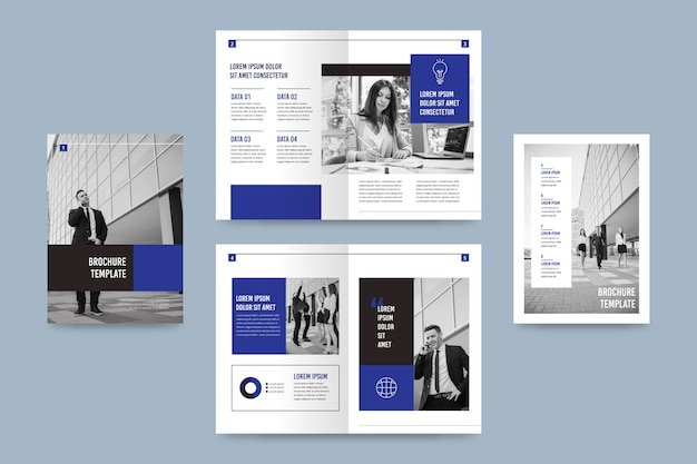 Bifold brochure template with photo