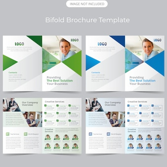 Двойной шаблон бизнес-брошюры