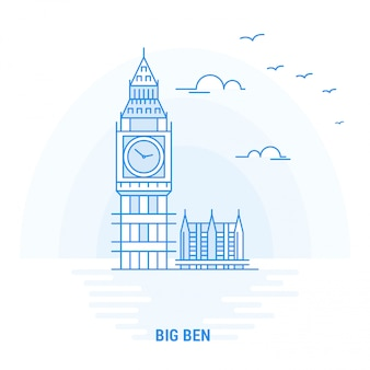 Big ben blue landmark