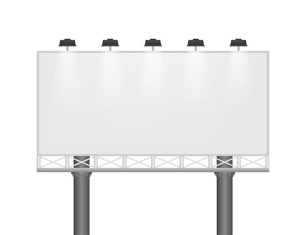 分離された大きな空白の空の看板
