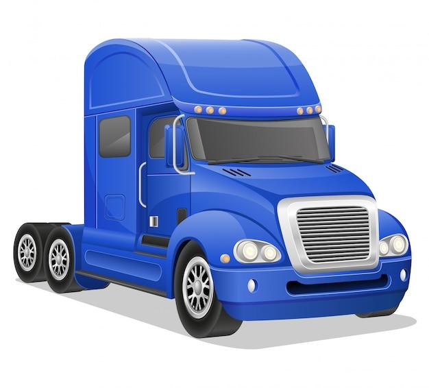 Big blue truck