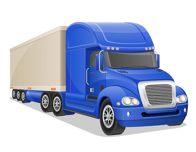 Большой синий грузовик