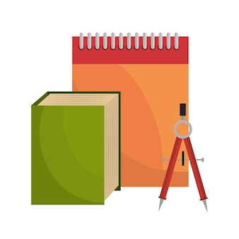 Big book notebook and compass tool school