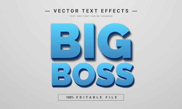 Редактируемый текстовый эффект big boss