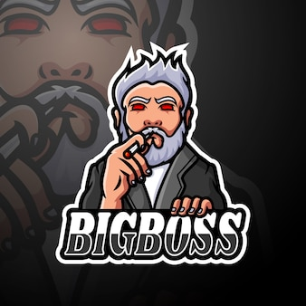 ビッグボスeスポーツロゴマスコットデザイン