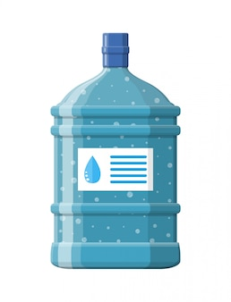 Big bottle with clean water for cooler.