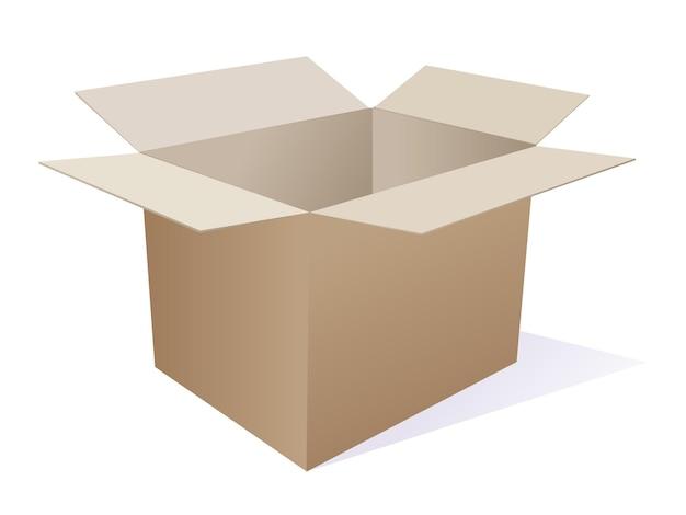 Большая коробка на белом