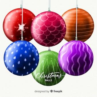 Big christmas balls background