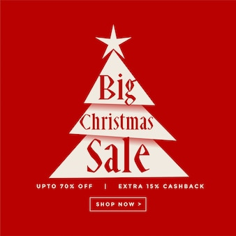 Big christmas sale poster design