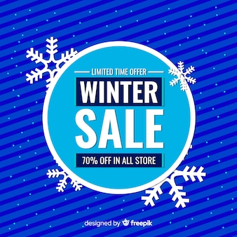 Big circle winter sale background