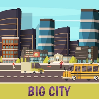 Big city illustration