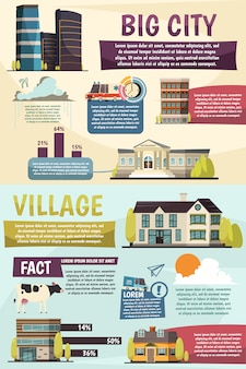 Big city infographics