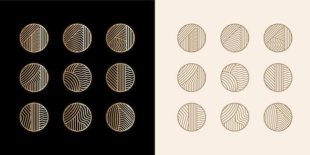 Большая коллекция абстрактных линий, значков в истории instagram для социальных сетей премиум векторы