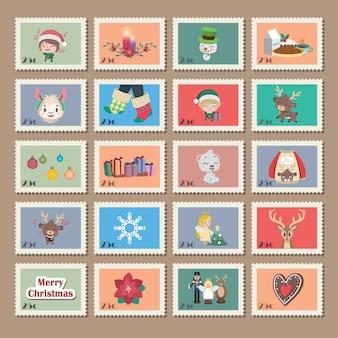 Big collection of christmas stamps