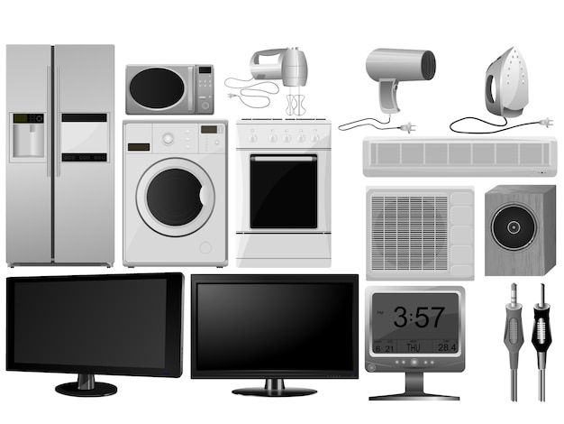 Big collection of images of household appliances