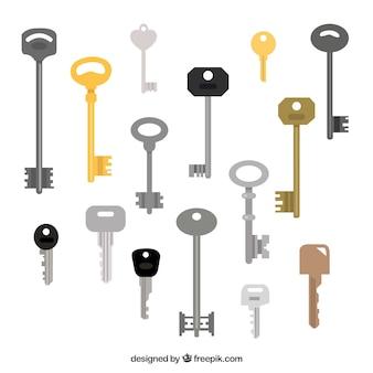 Grande collezione di chiavi