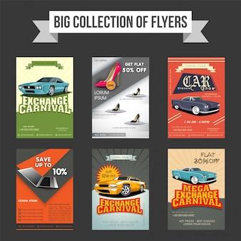 Большая коллекция шаблонов для шести листовок, шаблонов или баннеров