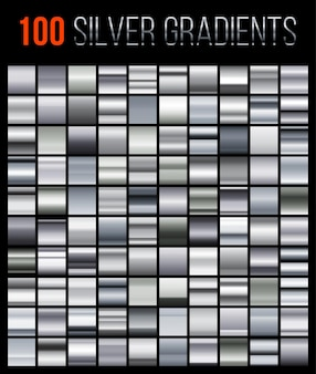 Big collection silver gradient backgrounds.