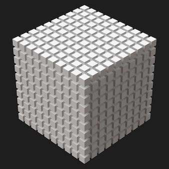 Большой куб с кубическими разрезами