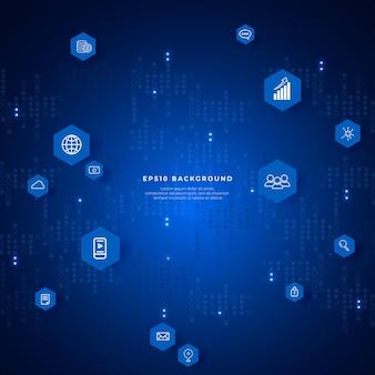Абстрактный фон больших данных