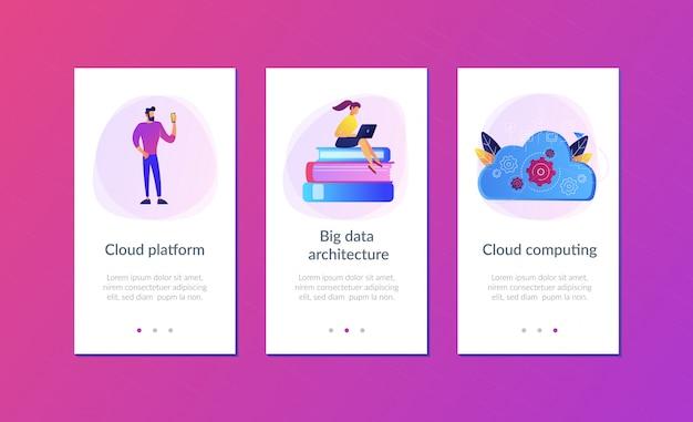 Big data architecture app interface template.