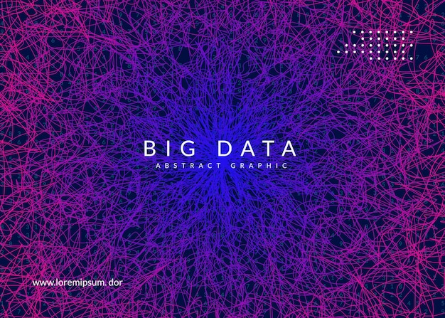 Big data background. digital technology abstract concept. artificial intelligence and deep learning. tech visual for interface template. vector big data background.