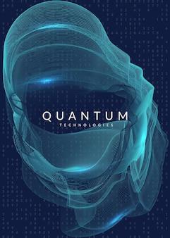 ビッグデータの背景。視覚化、人工知能、深層学習、量子コンピューティングのためのテクノロジー。概念を計算するためのデザインテンプレート。フラクタルビッグデータの背景。