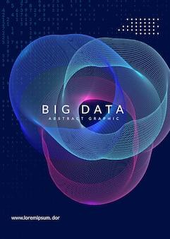 빅 데이터 배경입니다. 시각화, 인공 지능, 딥 러닝 및 양자 컴퓨팅을 위한 기술입니다. 에너지 개념을 위한 디자인 템플릿입니다. 사이버 빅 데이터 배경입니다.
