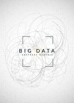 Фон больших данных. технологии визуализации, искусственного интеллекта, глубокого обучения и квантовых вычислений. шаблон дизайна для инновационной концепции. красочный фон больших данных.