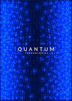 ビッグデータの背景。視覚化、人工知能、深層学習、量子コンピューティングのためのテクノロジー。インテリジェンスコンセプトのデザインテンプレート。現代のビッグデータの背景。