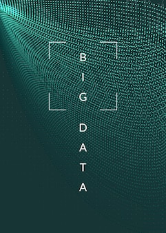 Big data background. technology for visualization, artificial intelligence, deep learning and quantum computing