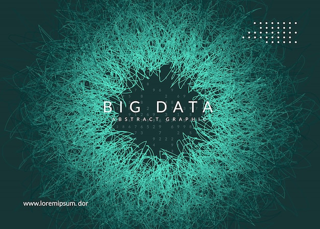 Big data background. technology for visualization, artificial intelligence