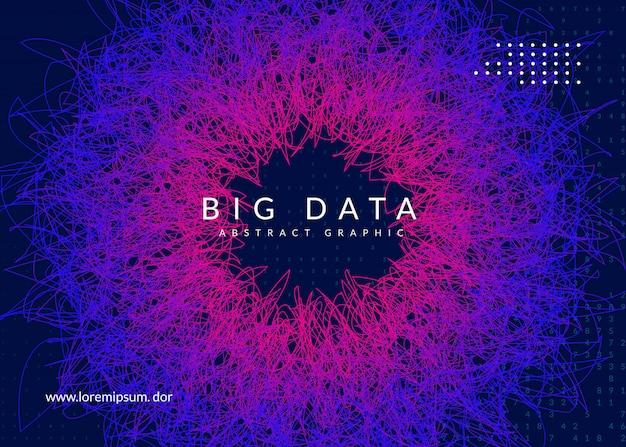 Big data background. technology for visualization