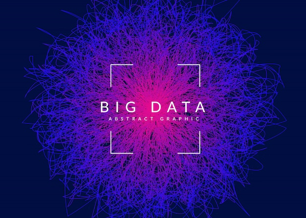 Big data background. technology for visualization