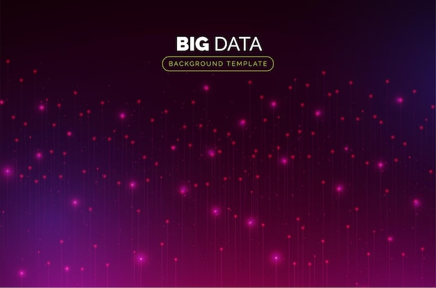 Modello di big data con particelle colorate