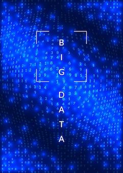 Big data blue background.