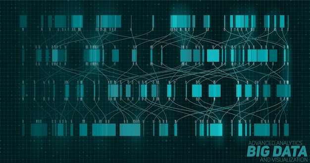 Big data blue visualization.