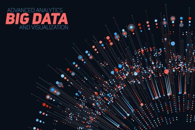 Круговая красочная визуализация больших данных.
