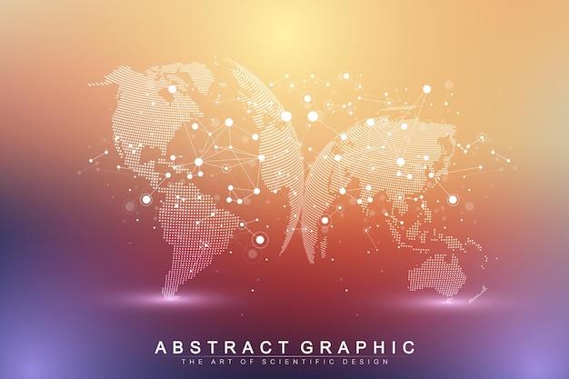 빅 데이터 복잡한 세계 글로브 그림
