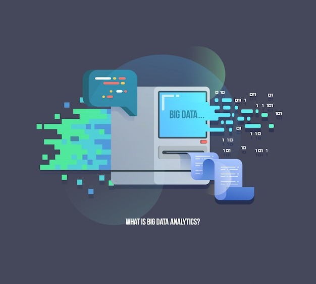 Big data computer learning algorithms illustration