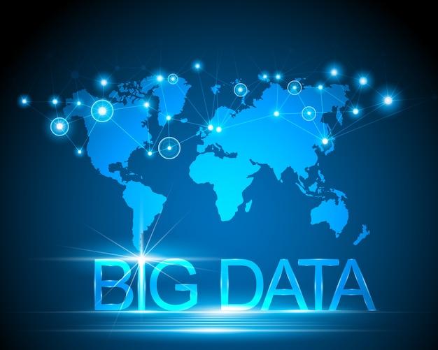 Большая концепция данных и подключение к карте мира