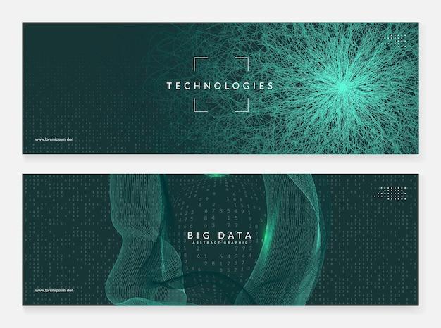 Концепция больших данных. абстрактный фон цифровых технологий. искусственный интеллект и глубокое обучение. технический визуал для сетевого шаблона. футуристический фон концепции больших данных.
