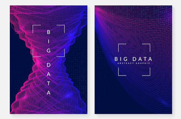 Big data concept. digital technology abstract background. artificial intelligence and deep learning. tech visual for interface template. neural big data concept backdrop.