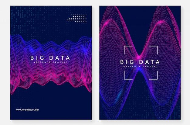 Большой дизайн обложки данных. технологии для визуализации