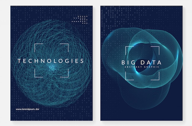 Big data cover design. technology for visualization