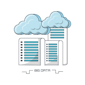 Big data design with data servers and clouds