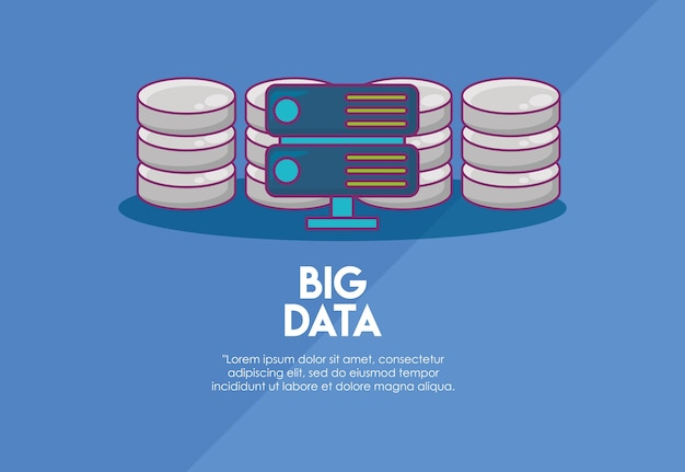 Big data design with router and data servers