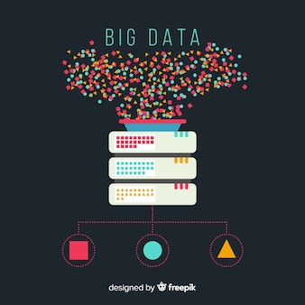 큰 데이터 평면 배경